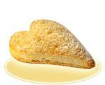 Слоеное изделие «Сердечки» с яблочной начинкой