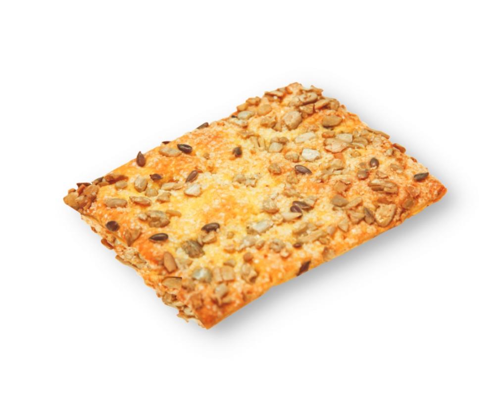 «Слоеный крекер» с семенами подсолнечника и льна