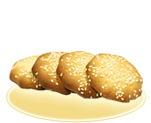 «Творожное печенье» с кунжутом