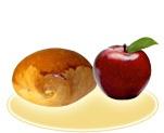 «Бриош» с яблоком