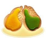 Сахарное печенье с мармеладом «Груша»