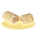 Бисквитное изделие «Рулет» с крем-брюле