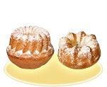 «Кекс» с изюмом в сахарной пудре